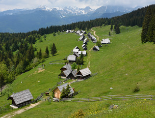 Alpine cottages on Zajamniki