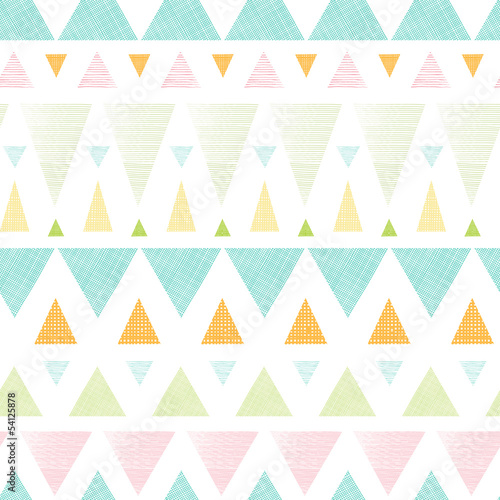 Vector abstract ikat triangles stripes seamless pattern