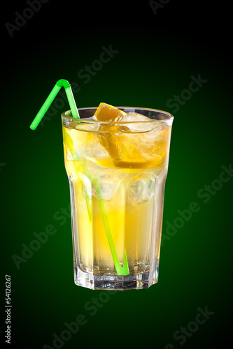 Cocktail with vodka and lemon juice