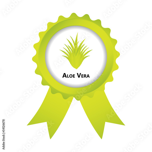 label with aloe vera design