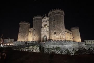 Naples nocturne on Castello Maschio Angioino