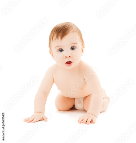 crawling curious baby