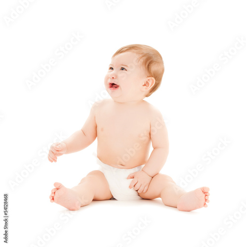 crying baby with erupting teeth