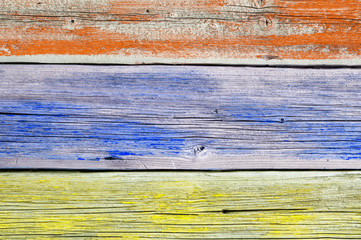 Background of the old wooden painted planks
