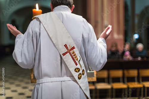 Priest during a ceremony/Mass