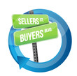 roadsign of words sellers and buyers