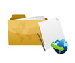 folder internet concept illustration design