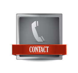 contact or call us button illustration design