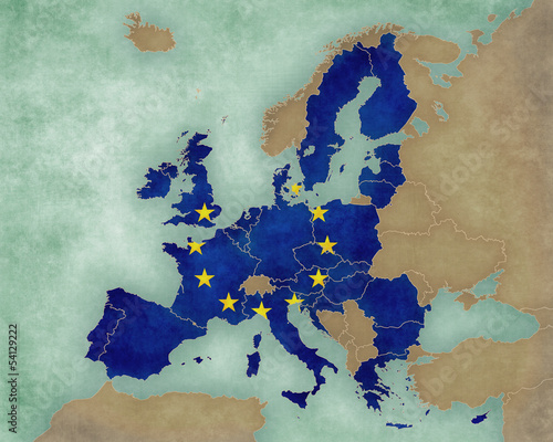 Map of Europe - European Union (dark)