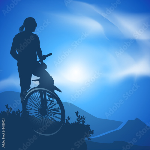 Cyclist. Vector illustration