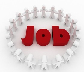 People looking for job . Career opportunity concept