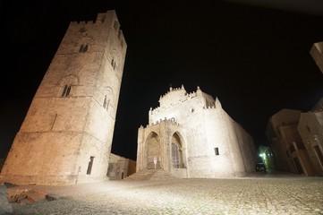 Erice, in Sicily (Trapani). The medieval Duomo dell'Assunta.