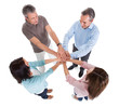 Business People Stacking Hands Over Each Other