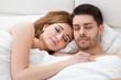 Lovely young couple sleeping