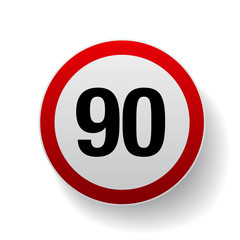 Speed sign - Number ninety button
