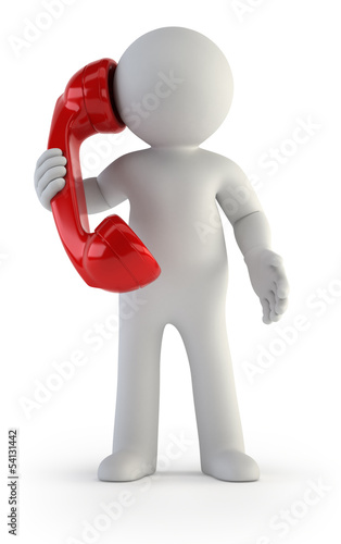 3d small people - Telephone conversation