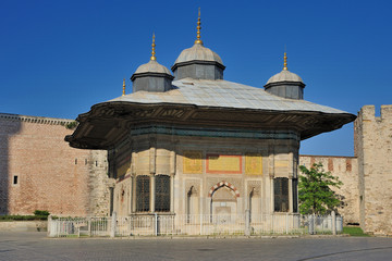 Fountain Kiosk of Ottoman Sultan Ahmed III - Istanbul