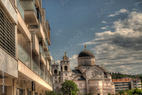 Ortodox church of the Resurrection of Christ in Podgorica Monten