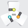 Vector abstract paper background with icons