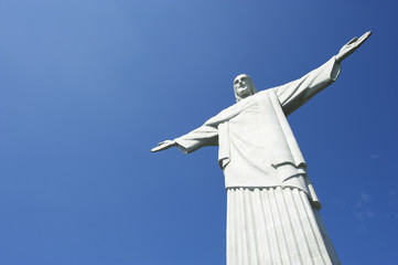 Corcovado Christ the Redeemer Blue Sky Horizontal