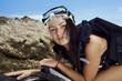 Portrait scuba girl
