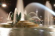 Swann memorial fountain in downtown Philadelphia at night
