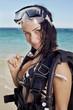 Portrait scuba diver