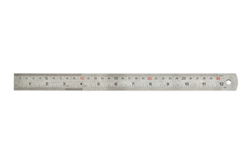 Metal thirty centimeters ruler