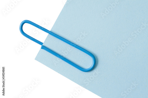 Blue Paper Clip with blue paper