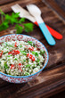 Cauliflower couscous with herbs and goji berries
