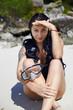 Under sun on sand