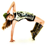 Beautiful Hip Hop Tween Girl Dancing