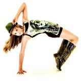 Fototapety Beautiful Hip Hop Tween Girl Dancing