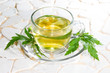 Verbena officinalis leaves and herbal tea