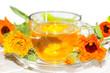 Herbal tea made from Calendula officinalus