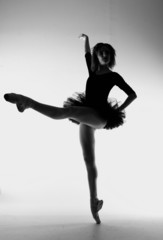 Elegant Ballet Dancer With Artistic Lighting