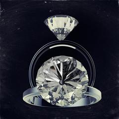 3d rendering of diamond rings