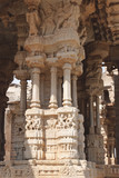 "Famous ""singing"" column in Vittala temple, Hampi"