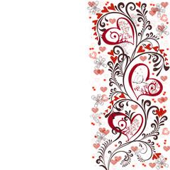 цветочный фон с сердцем
