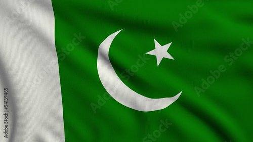 Flag of Pakistan looping