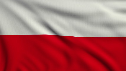 Flag of Poland looping