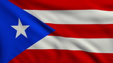 Flag of Puerto Rico looping