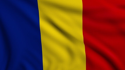 Flag of Romania looping