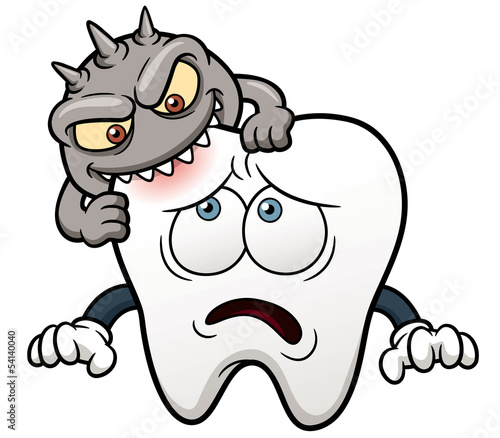Vector illustration of Cartoon tooth