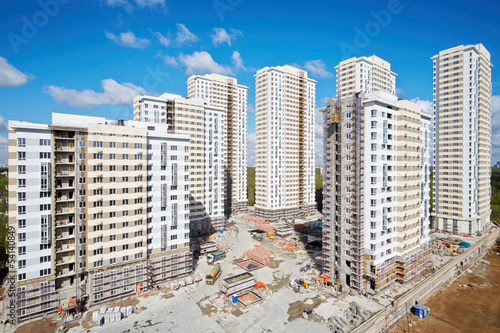 Buildings under construction of residential complex