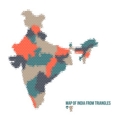 Map of India From Triangles