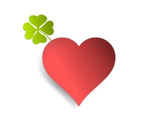 Herz mit Kleeblatt