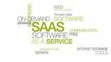SAAS Software as a service apps word tag cloud animation