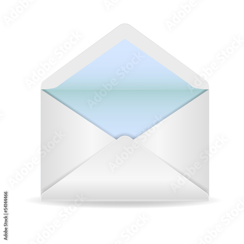 White opened envelope