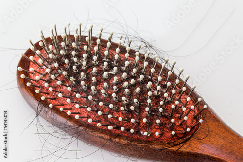 Hair brush with lost hair